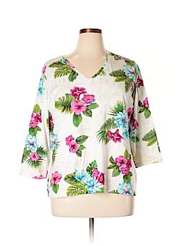Caribbean Joe 3/4 Sleeve T-Shirt Size 1X (Plus)