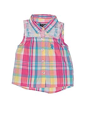 U.S. Polo Assn. Sleeveless Button-Down Shirt Size 3T