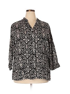 Carole Little Long Sleeve Top Size 2X (Plus)