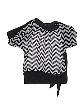 Iz Byer Short Sleeve Blouse Size X-Large (Kids)
