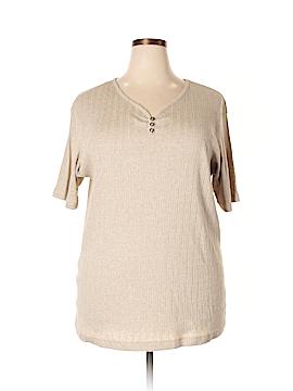 Jaclyn Smith Short Sleeve Henley Size 24W (Plus)
