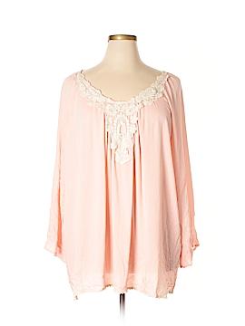 Pink Blush Long Sleeve Blouse Size 3X (Plus)