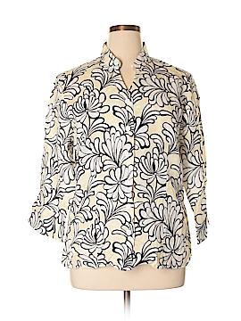 Carole Little 3/4 Sleeve Button-Down Shirt Size 1X (Plus)