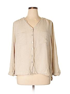 Coral Bay 3/4 Sleeve Button-Down Shirt Size 1X (Plus)