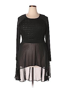 City Chic 3/4 Sleeve Blouse Size 14 (Plus)