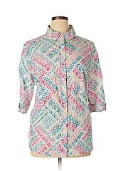 BonWorth Women 3/4 Sleeve Button-Down Shirt Size XL