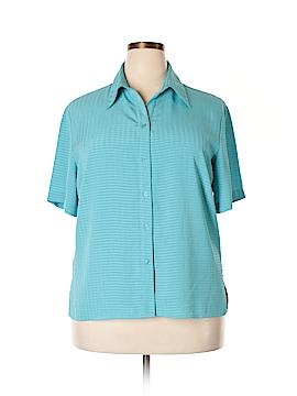 Apparenza Short Sleeve Blouse Size 1X (Plus)