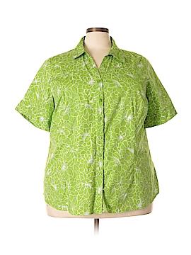 Liz & Me Short Sleeve Button-Down Shirt Size 22 (Plus)