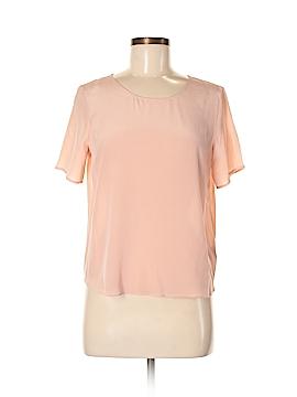 Zoe & Sam Short Sleeve Silk Top Size S