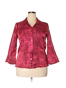 Erin London 3/4 Sleeve Button-Down Shirt Size XL