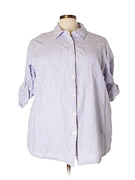 Joan Rivers Long Sleeve Button-Down Shirt Size 3X (Plus)