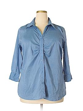 Covington 3/4 Sleeve Button-Down Shirt Size 16 - 18