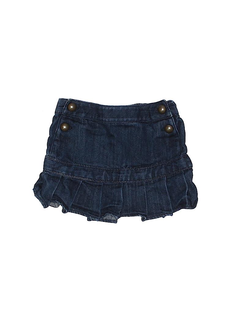 70c0fcc01c Baby Gap 100% Cotton Solid Navy Blue Denim Skirt Size 4 - 92% off ...