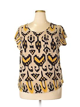 Cynthia Rowley for Marshalls Short Sleeve Blouse Size 1X (Plus)