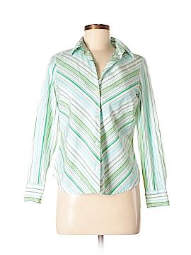 Charter Club Long Sleeve Button-Down Shirt Size 8 (Petite)