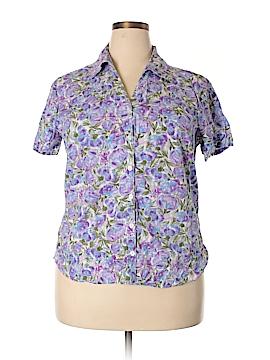 Gloria Vanderbilt Short Sleeve Button-Down Shirt Size XL