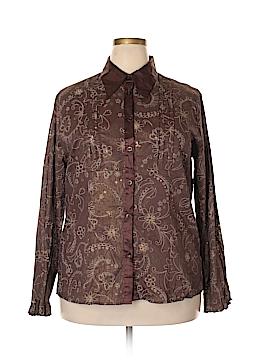 Antilia Femme Long Sleeve Button-Down Shirt Size 3X (Plus)