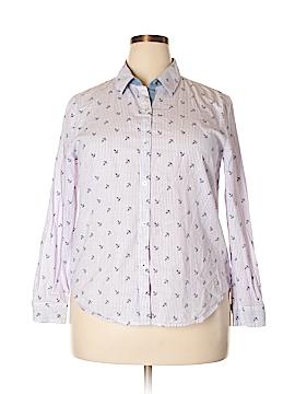 Nautica Long Sleeve Button-Down Shirt Size XL