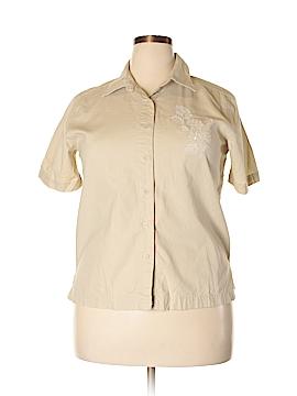 Element Short Sleeve Button-Down Shirt Size L
