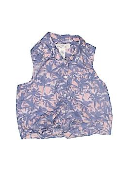 H&M L.O.G.G. Sleeveless Button-Down Shirt Size 8 - 9