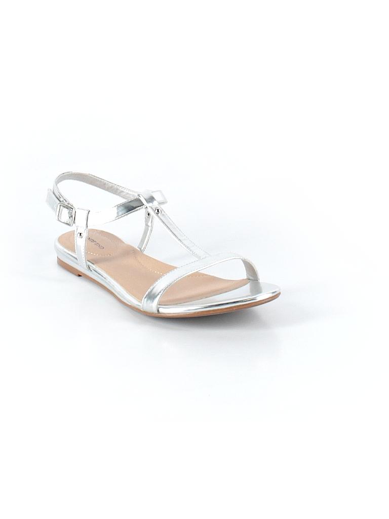 186836fe63b Lands  End Metallic Silver Sandals Size 7 1 2 - 59% off