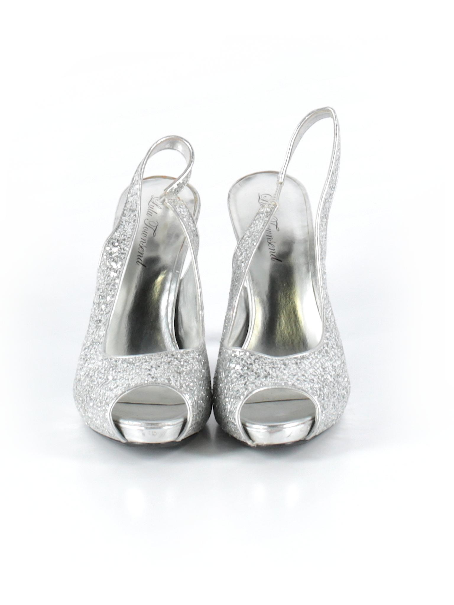 0db682cf977 Lulu Townsend Solid Silver Heels Size 9 1 2 - 76% off