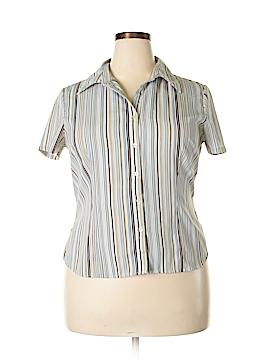 Covington Short Sleeve Button-Down Shirt Size 18 (Plus)