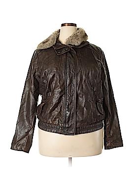 Neu Look Faux Leather Jacket Size 2X (Plus)