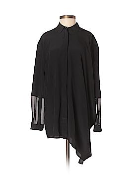 All Saints Long Sleeve Silk Top Size 4