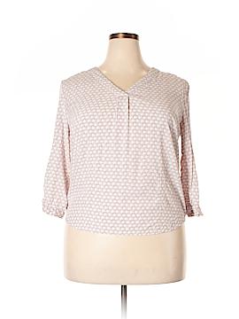 Cynthia Rowley for T.J. Maxx 3/4 Sleeve Blouse Size XL