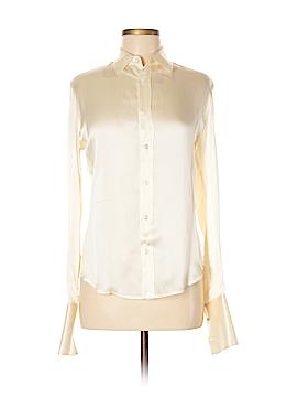 Ralph Lauren Collection Long Sleeve Silk Top Size 6