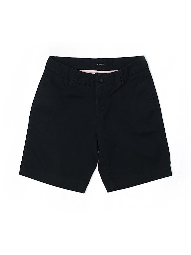 Lands' End Women Khaki Shorts Size 1