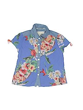 Scotch R'Belle Short Sleeve Button-Down Shirt Size 4