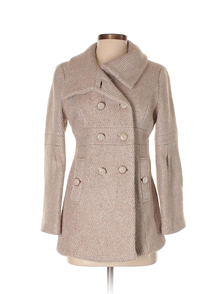 a2407b11842 Ann Taylor LOFT Solid Beige Wool Coat Size 6 (Petite) - 80% off ...