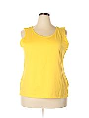 Basic Editions Women Sleeveless T-Shirt Size XXL
