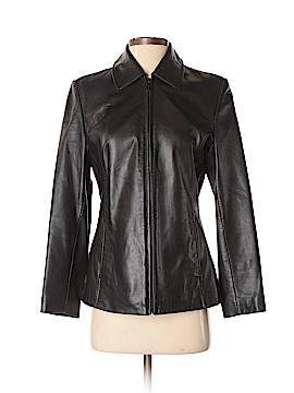 Liz Claiborne Leather Jacket Size S (Petite)