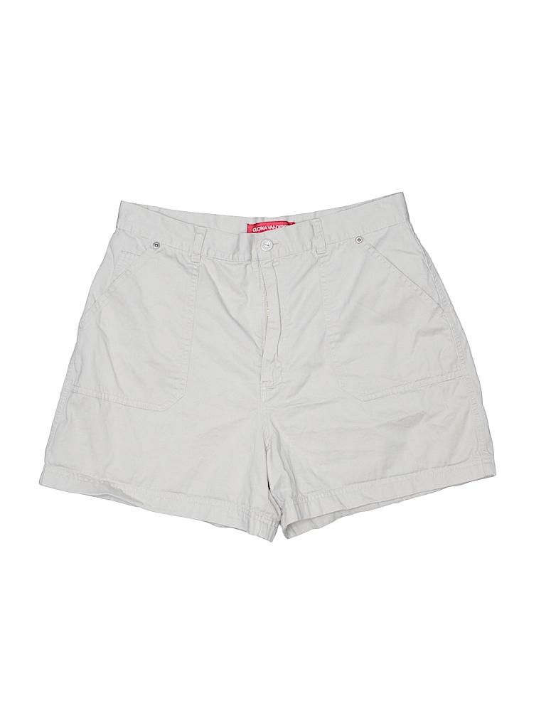 Gloria Vanderbilt Women Khaki Shorts Size 14
