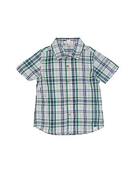 Burt's Bees Kids Short Sleeve Button-Down Shirt Size 3T