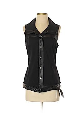 Just Fab Sleeveless Button-Down Shirt Size S