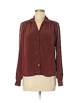 Espresso Long Sleeve Button-Down Shirt Size 8