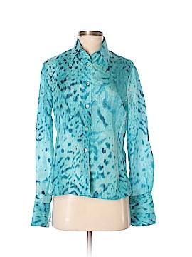 Gianfranco Ferre Long Sleeve Silk Top Size 44 (IT)