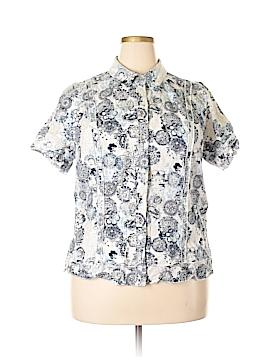 Cj Banks Short Sleeve Button-Down Shirt Size 1X (Plus)
