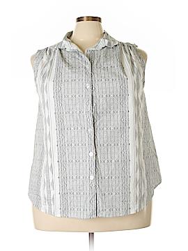 Roaman's Sleeveless Button-Down Shirt Size 22 (Plus)