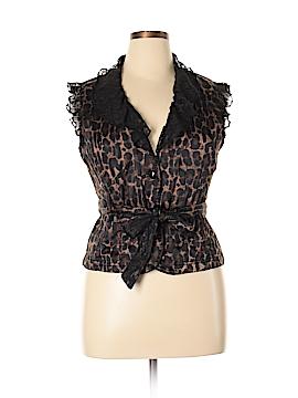 Dots Short Sleeve Button-Down Shirt Size XL