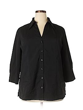 Apostrophe 3/4 Sleeve Button-Down Shirt Size 18 (Plus)