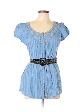 FANG Short Sleeve Button-Down Shirt Size L