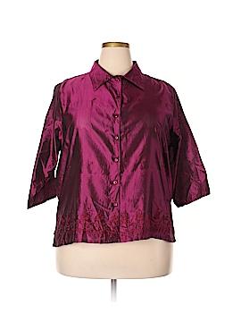Venezia 3/4 Sleeve Silk Top Size 18 (Plus)
