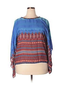 Be Lush 3/4 Sleeve Blouse Size 3X (Plus)
