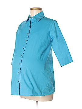Olian 3/4 Sleeve Button-Down Shirt Size M (Maternity)