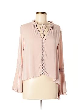 En Creme Long Sleeve Blouse Size M